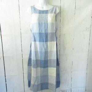 J Jill Love Linen Dress Plaid